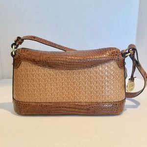 Brahmin Leather Brown Small Adjustable Strap